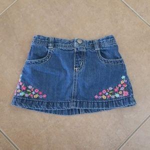 🎁Gymboree Floral Jean Skirt Size 2T🎁